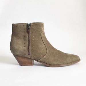 Marc Fisher Wanida Leather Suede Ankle Boot 7